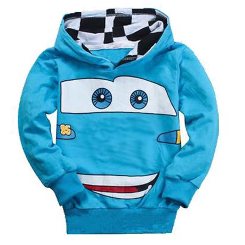2018 Spring Autumn Hot Sale Fashion Boys Cartoon Sport Hoodies T Shirt Outerwear Children Long Sleeve Casual Hooded Sweatshirt