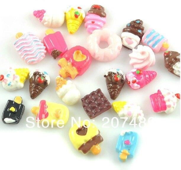 cartoon icecream cake 24 design resin 3D nail art Salon UV Gel Tips Manicure decorations care beauty