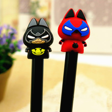 4pcs/lot kawaii Creative American hero gel pen Neutral stationery material escolar office school supplies Free shipping