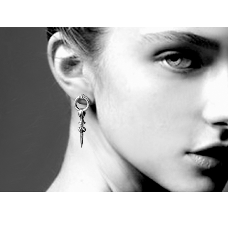 684068bd4 Lengkea jewery the big stud earring 925 sterling silver jewelry boys girls single  personality exaggerating cool ears accessories-in Stud Earrings from ...
