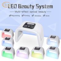 ФДТ Omega лампы терапии Красота здоровья Средства ухода за мотоциклом 7 цветов лица LED IPL Эстетической Системы Уход за кожей лица отбеливающий