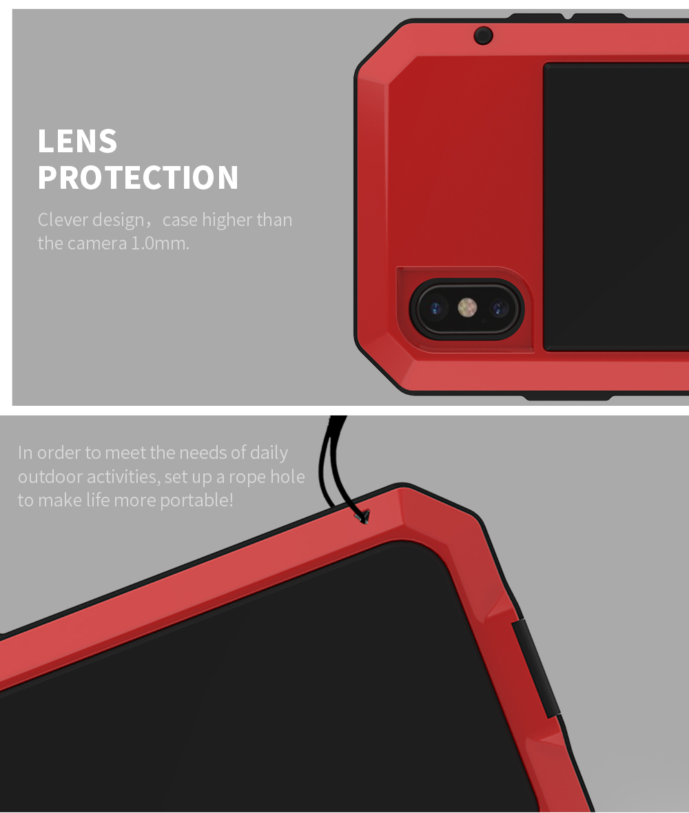 For iPhone X Tactical Waterproof Case (8)