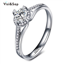 Eleple White gold color Rings For Women cubic zirconia jewelry wedding engagement ring accessories Dropshipping supplier VSR073 eleple classic wedding rings for women cubic zirconia white gold color ring gifts for lovers engagement jewelry supplier vsr013