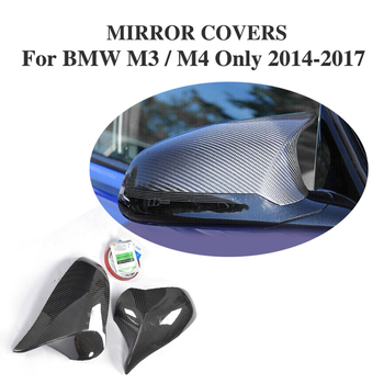 Add On Style DRY Carbon Fiber Rear View Mirror Cover Caps For BMW F80 M3 F82 F83 M4 Sedan 4DCoupe Convertible 2D Only 14-17