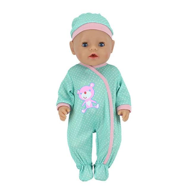 Mode poupées saut costumes avec le chapeau adapté pour 43cm bébé poupée poupée Reborn bébé vêtements 17 pouces poupée accessoires