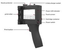 Handheld Touch Screen label Printer Portable Printer Bar Code QR Date Coder Machine Handheld Inkjet Printer for Plastic , Metal
