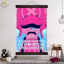 One Piece Tony Chopper Modern Wall Art Print Pop Picture And Poster Frame Hanging Scroll Canvas Painting
