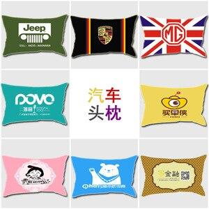 Image 5 - Casa têxtil simples impressão travesseiro, núcleo de algodão, linho, pelúcia, almofada criativa, presente travesseiro, logotipo padrão personalização