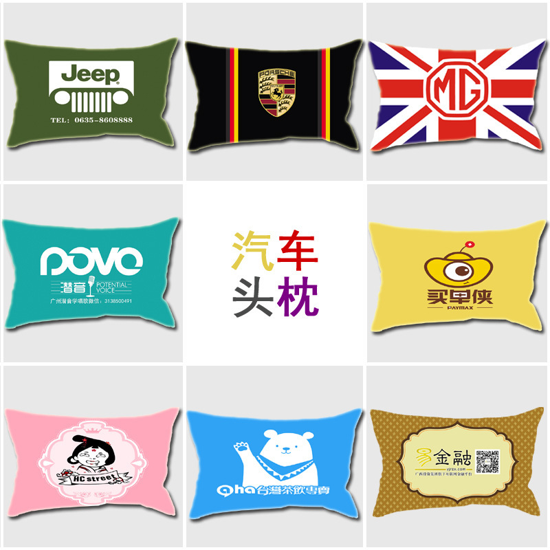 Image 5 - Home textile simple printing pillow, core cotton, linen, plush, creative cushion, gift pillow, logo pattern customization-in Storage Bags from Home & Garden