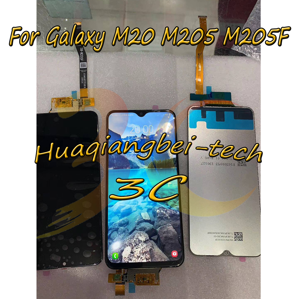 6.3 Original New For Samsung Galaxy M20 M205 M205F SM-M205F/DS Full LCD DIsplay + Touch Screen Digitizer Assembly 100% Tested6.3 Original New For Samsung Galaxy M20 M205 M205F SM-M205F/DS Full LCD DIsplay + Touch Screen Digitizer Assembly 100% Tested