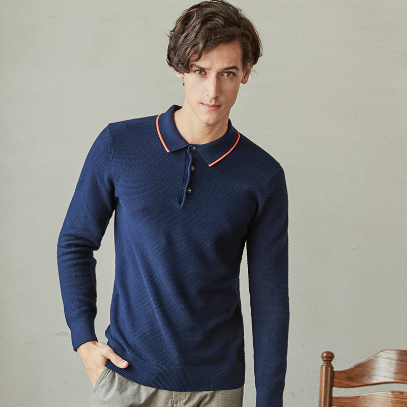 New Trend Knitted   Polo   Shirt Men Solid Color   Polo   Shirts Mens Casual Breathable Male   Polos   Homme De Marque Haute Qualite 17184