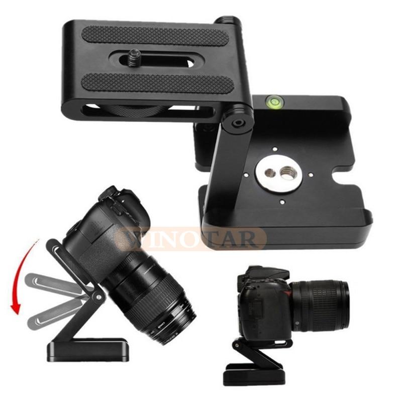 Tipo Z Cabezas de trípode Solution fotografía estudio Cámara Tripod Z Pan & Tilt Flex cabeza de inclinación aleación de aluminio para Nikon Canon cámara
