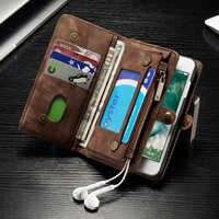 Caso di cuoio di lusso Per il iphone X 7 8 6s 6 Plus XS Max XR 11 Pro di Vibrazione magnetica Multifunzionale cassa del raccoglitore Del Telefono Con La Tasca di Carta