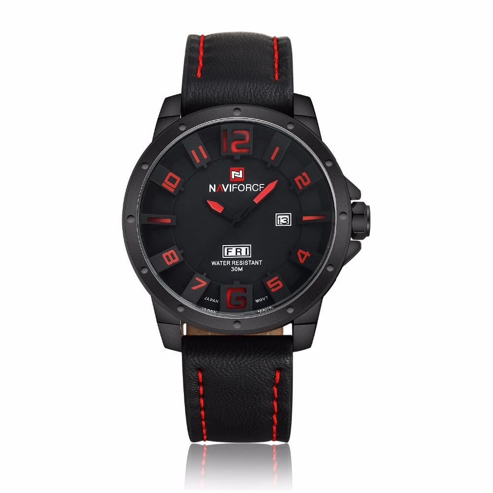 Naviforce Men's gift Watch relojes hombre 2017 Watches Men Quartz Analog 3D Face Clock male Army military sports watch reloj new vogue fashion v6 3d surface case black male analog quartz watch military men business casual wrist watch relojes hombre gift