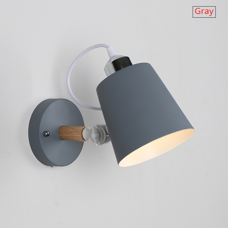 Modern Bedroom Wall Lamp Lighting Decoration Hotel Room Beside Wall Lamp Indoor Lighting Macaroon Colors E27 Holder Without Bulb купальник раздельный на бретелях для занятий в бассейне