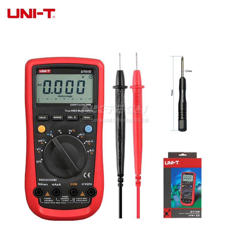 Multimètre numérique UNI-T UT61E UT61D UT61C UT61B UT61A gamme automatique véritable RMS AC DC Volt A testeur de résistance à la fréquence de capacité