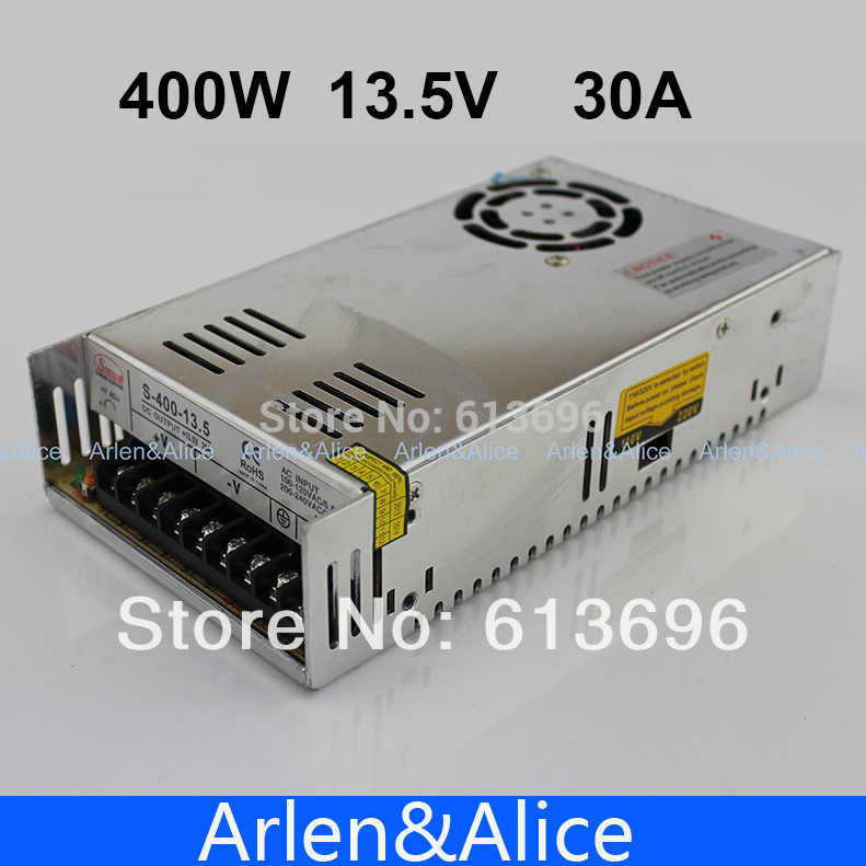 13,5 W 400 V 30A fuente de alimentación de conmutación de salida única para LED SMPS AC a DC