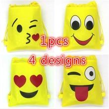 1pcs/lot emoji string bags baby shower party supplies kids birthday 34*27