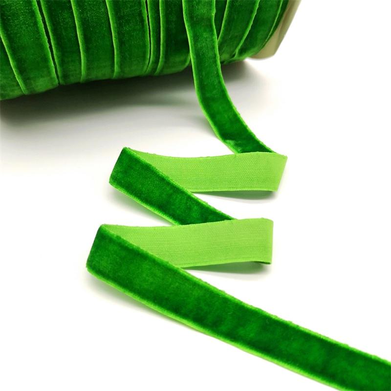 5 ярдов 6-25 мм бархатная лента для украшения свадебной вечеринки ручная работа лента для упаковки подарков бантик для волос DIY Рождественская лента - Цвет: Green