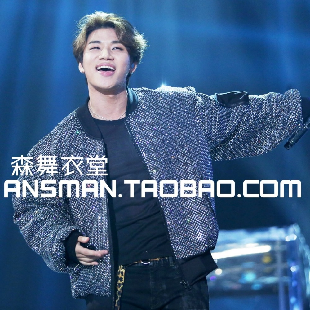 Custom! S-5XL nightclub DJ 2017 new male singer with paragraph BIGBANG MAMA composite super shiny piece costumes baseball jacket