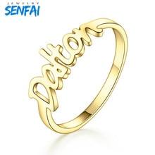 Personlighet Anpassade Smycken Fashon Trendiga Custom Name Ring Rostfritt Stål Ringar För Par Lover Bästa Gift Top Quality