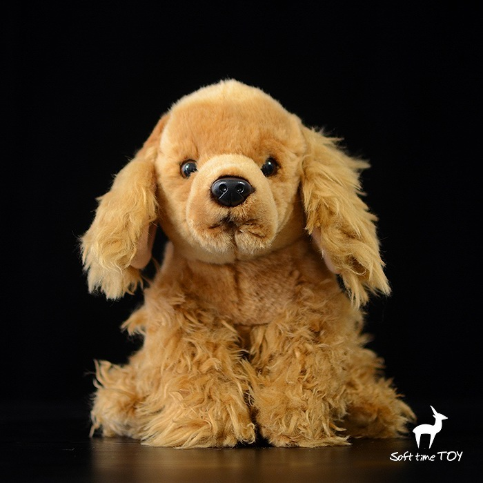 Kids Toys Plush Animal Doll Toy Cocker Spaniel  Cute  Lying Dogs  Birthday Gifts