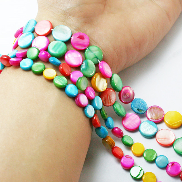 New Fashion 8mm 11mm Multicolor Alternative Natural Mop S Beads For Bracelets Necklaces Unique Jewelry
