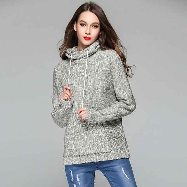 Liva Girl Hooded Sweater Coats Women Pullovers Sweaters Autumn
