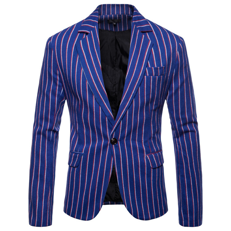 BOB2020 Men's New Winter Striped Blazer Cultivate One's Morality Of Youth Fashion Suits