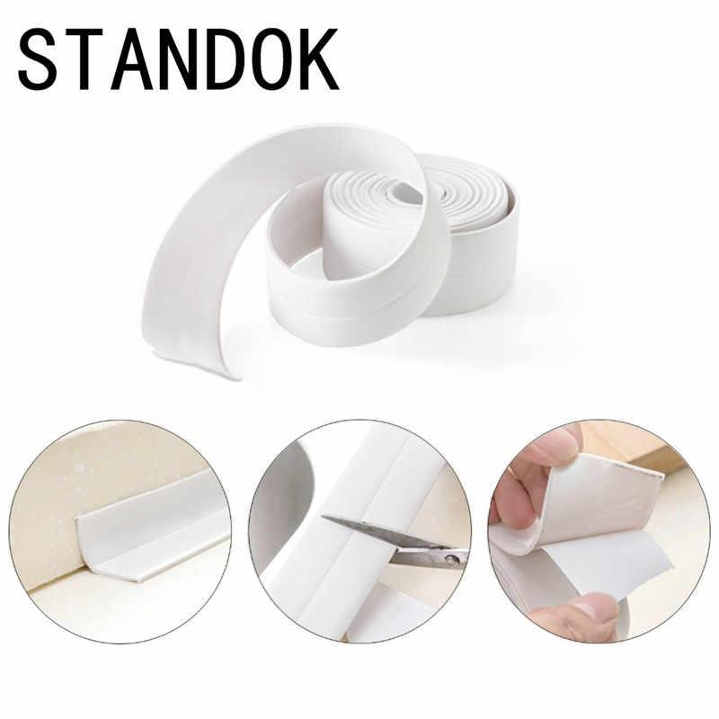 防水型防水粘着テープ耐久性のある使用 1 ロール PVC 素材キッチン浴室の壁シールテープガジェット