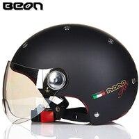 Beon Motorcycle Helmet Vintage Women ECE DOT Men Motorcycle Motorbike Scooter Bicycle Half Face Helmets
