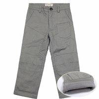 Casual Elastic Waist Trousers For Boys Solid Cotton Pants Kids Jeans Mid Elastic Waist Pants Children's Fashion Jeans 12Y 4P0880