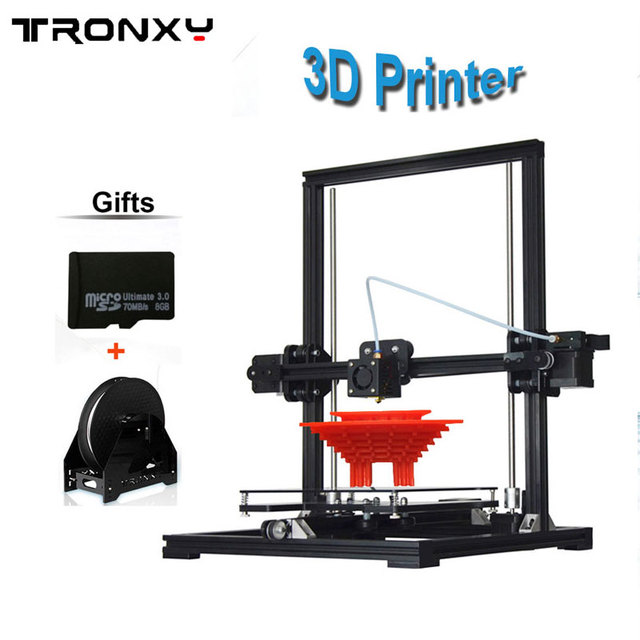 Tronxy New X3A Auto Level 220*220*300mm DIY 3D Printer kit Aluminium Reprap i3 3D printer 10M filament 8GB SD card gifts