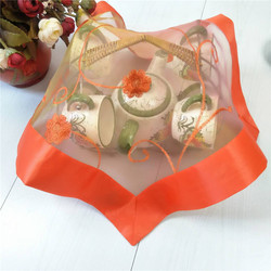 Classic satin place table mat cloth lace pad embroidery cup mug drink doilies tea coaster Christmas placemat dining kitchen