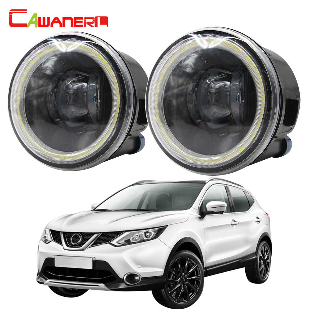 Cawanerl For Nissan Qashqai J11 J11_ Car LED Fog Light Angel Eye Daytime Running Light 12V 2013 2014 2015 2016 2017 2018 2019