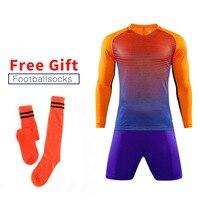 ONEDOYEE Kids Soccer Goalkeeper Jerseys Polyester Child Football Sets Goal Keeper Uniforms Suits Boys Training Shirt