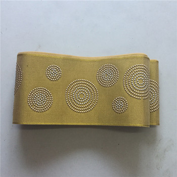 African ASO OKE Headtie yellow High Quality  nigerian gele wrapper Wedding Party nigerian aso oke headtie -L5