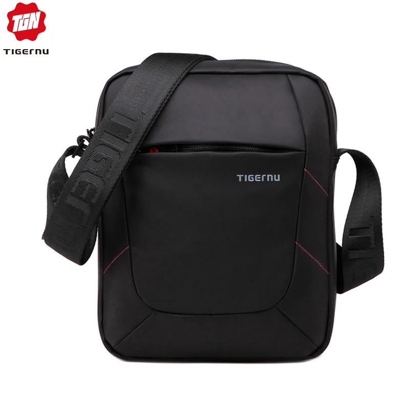 2015 New Shoulder Bag Messenger Bag Men 10 Inch Black Red Nylon Bag Messenger Small Brand Business Messenger Bags for Men blouse