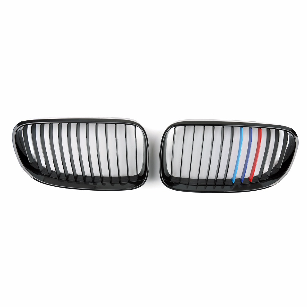 Areyourshop Car Front Kidney Grill Mesh Grille For BMW E92 E93 LCI 2Dr 328i 335i 2011-2014 1Pair Car Auto Styling Covers Grille
