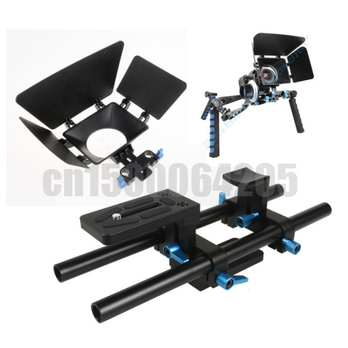 Free shipping worldwide +tracking number Fotga DP500 DSLR Matte Box + 15mm Rail Rod Support for Follow Focus Rig 5DII 60D