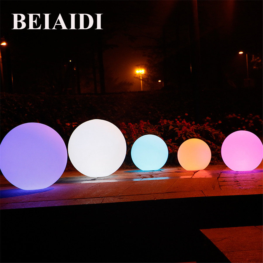 BEIAIDI 16 Color RGB LED Floating swimming pool ball light IP68 Outdoor Rechargeable illuminated bar Table Lamp with Remote купить