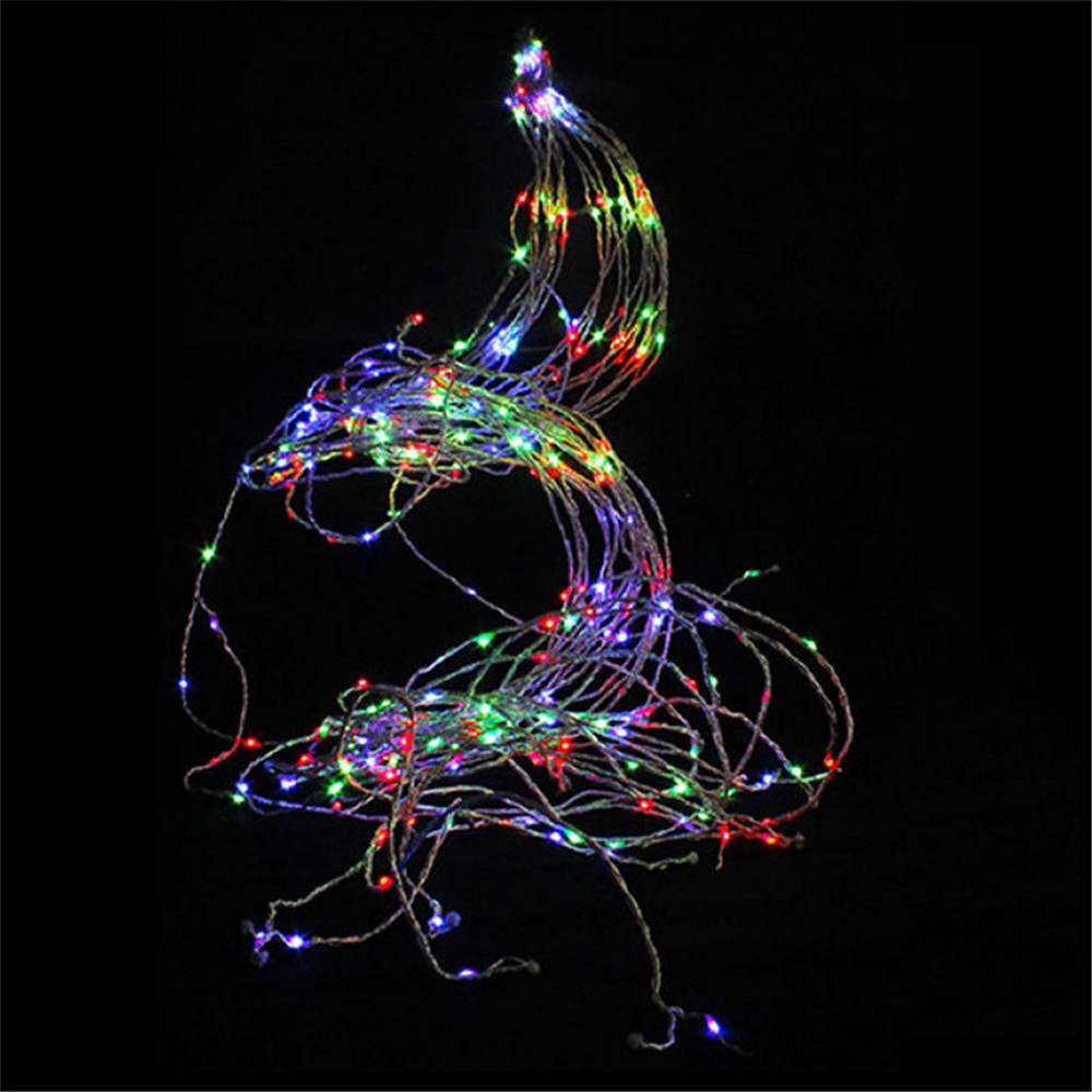 Image 2 - 2M 200leds Tree Waterproof Vine Light String Waterfall Holiday Fairy Curtain Light Garden Christmas Party Wedding Romantic Decor-in Holiday Lighting from Lights & Lighting on