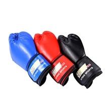 Professional PU Soft Foam Rubber Boxing Gloves Kickboxing MMA Training Fighting Sandbag for Thai Fight Glove luva de box цена