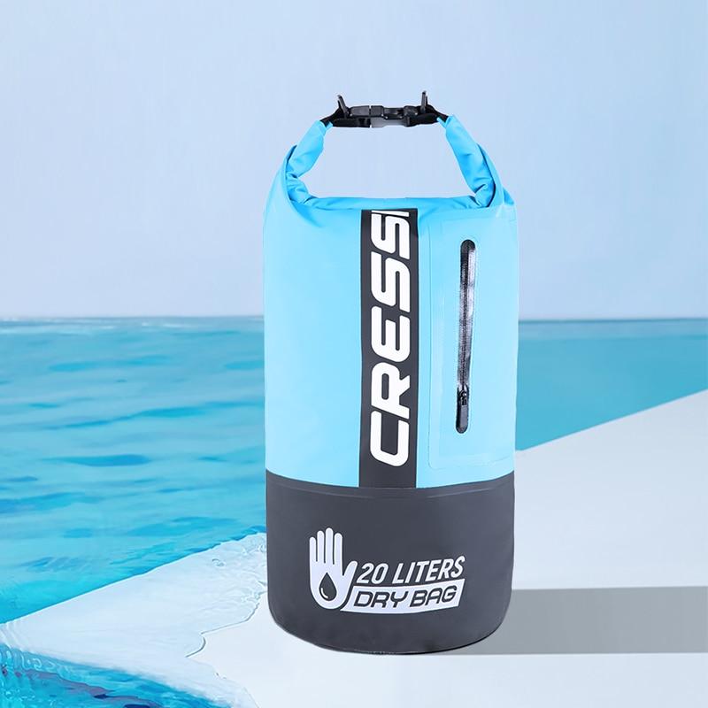 Cressi 20L Dry Bag Premium Diving Backpack Diving Equipment Bag Waterproof Big Volume for Snorkeling Dive