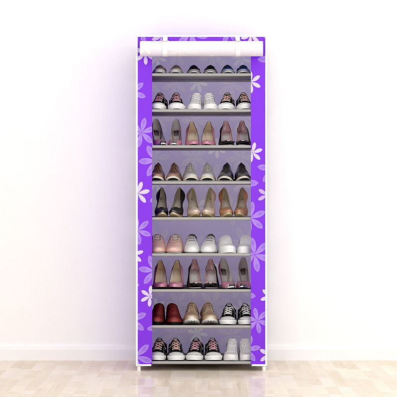 Image 5 - Large Capacity Shoes Storage Cabinet Double Rows Shoes Organizer Rack Home Furniture DIY Dust proof Shoes Shelves Space Saver-in Shoe Cabinets from Furniture