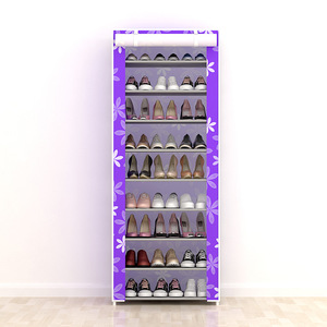 Image 5 - Large Capacity Shoes Storage Cabinet Double Rows Shoes Organizer Rack Home Furniture DIY Dust proof Shoes Shelves Space Saver
