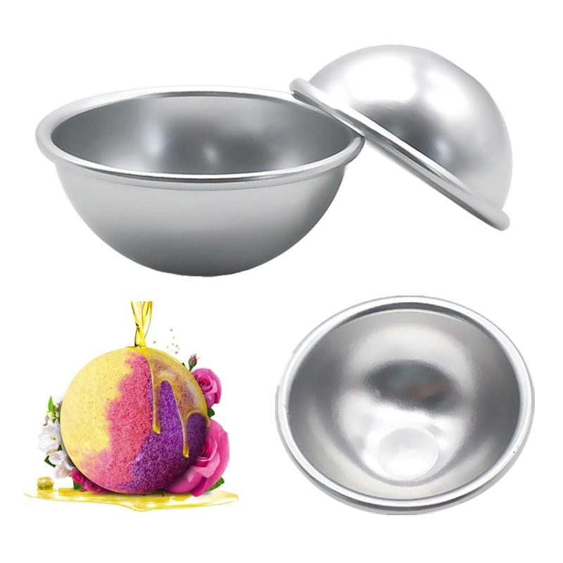 6 шт./упак. для ванной бомбы металлический алюминиевый сплав для ванной бомба плесень 3D шар Сфера форма DIY купальный инструмент Аксессуары для ванной Фантазийная форма
