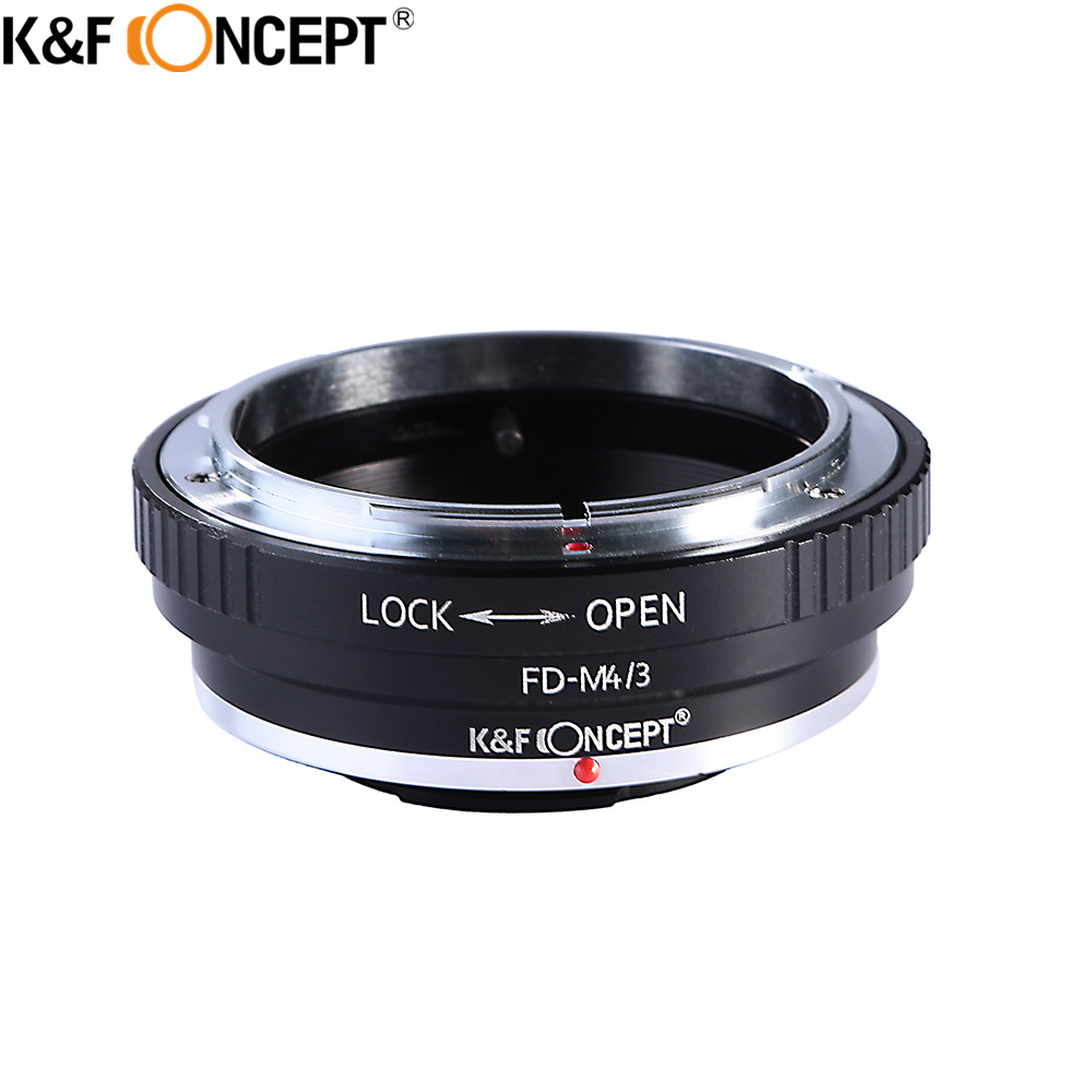 Προσαρμογέας φακού φωτογραφικής μηχανής FD-M4 / 3 K & F CONCEPT Προσαρμογέας φακού φωτογραφικής μηχανής FD-M4 / 3 για αντικειμενικό φακό Canon FD Mount To Olympus M43 E-P1 / E-P2 / E-PL1 για Panasonic G1 / G2 / GF1 / GH1 / GH2