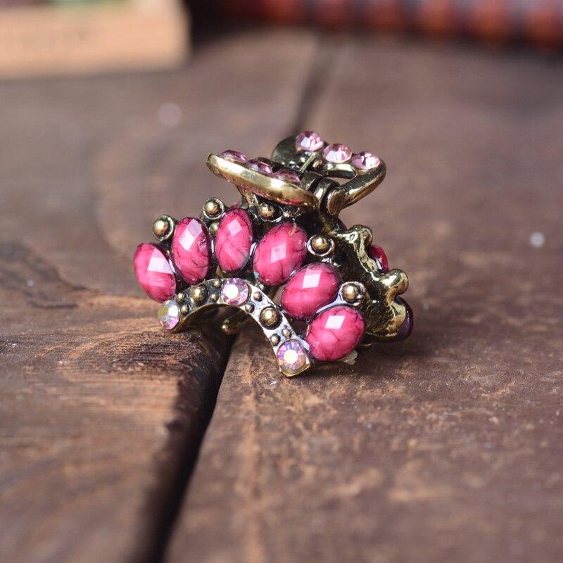 Muylinda Vintage Crown Hårsmycken Rhinestone Små hårklor Hårklipp - Märkessmycken - Foto 2