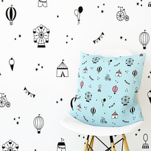 Romantic Hot Air Ballon Waterproof Wall Stickers House Decoration Living Room Bedroom Removable Decor Wall Decals removable waterproof elephants pattern 3d wall stickers for living room bedroom decoration